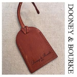 Dooney & Bourke Leather Hang Tag Key Fob Luggage